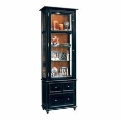 Philip Reinisch Co   Color Time Vista Display Cabinet In Pirate Black    73257