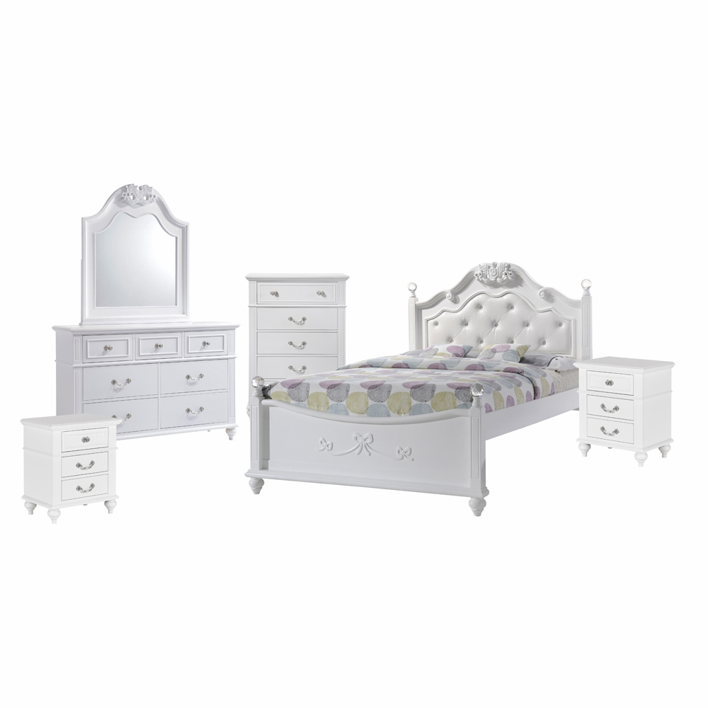 Picket House Furnishings Annie Full Platform 6pc Bedroom Set W Storage Trundle An700ft6pc