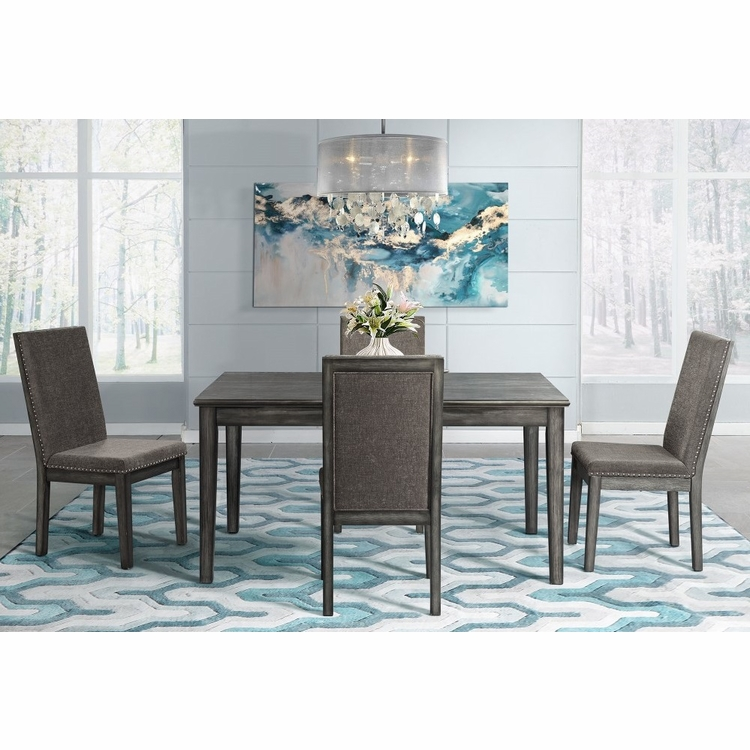 Picket House Furnishings - Austin 5Pc Dining Set Table And Four Chairs in Gray - DSO1005PC