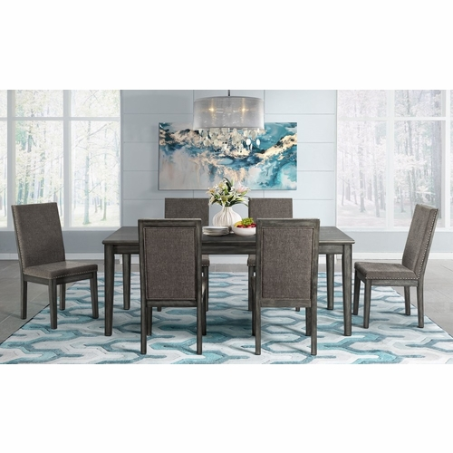 Picket House Furnishings - Austin 7Pc Dining Set Table And Six Chairs in Gray - DSO1007PC