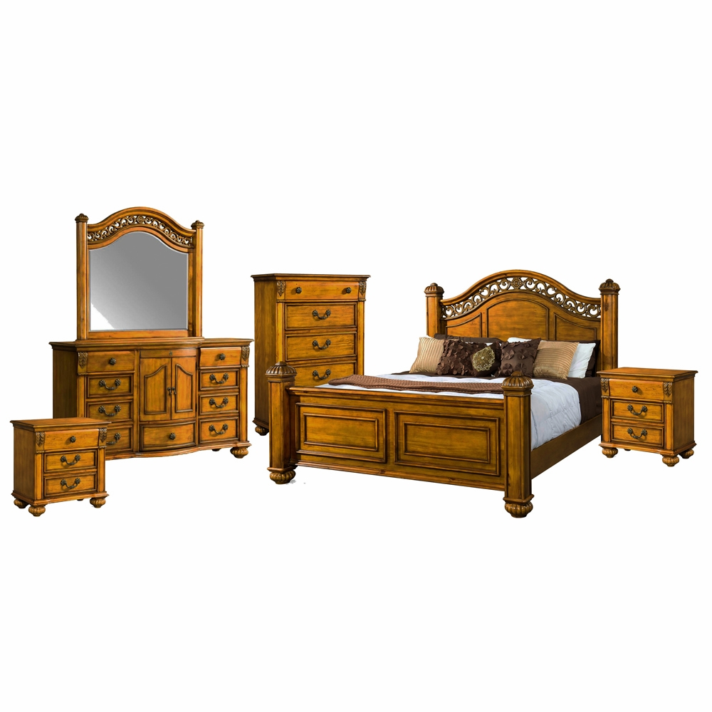 Picket House Furnishings - Barrow 6 Piece King Bedroom Set - BQ600KB6PC
