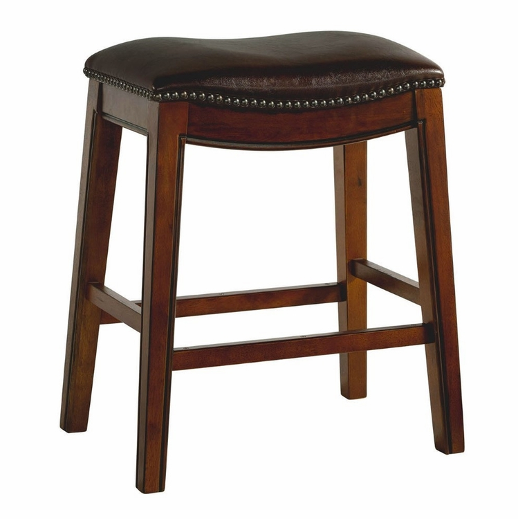"""Picket House Furnishings - Bowen 24"""" Backless Counter Height Stool in Brown - LFS100CSTBR"""