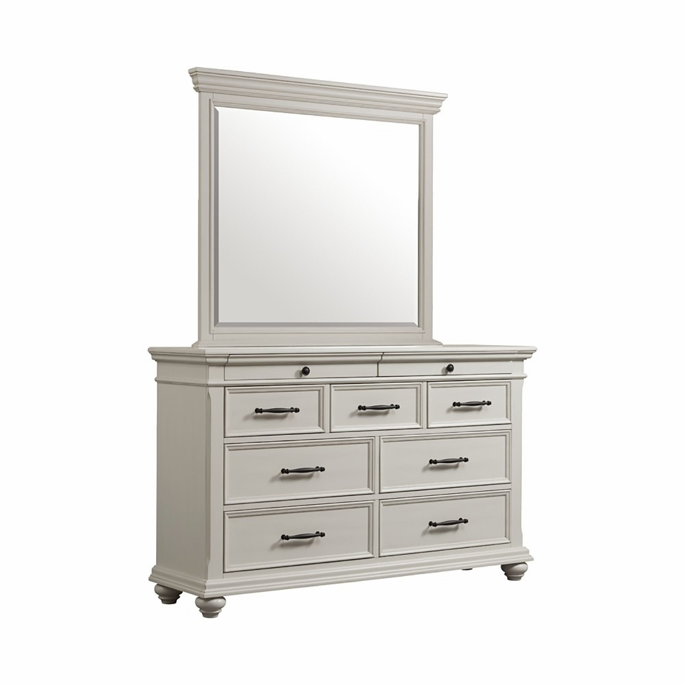 Picket House Furnishings Brooks 9 Drawer Dresser With Mirror In White Sr600drmr