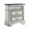 Picket House Furnishings - Caroline 2 Drawer Media Chest With Media Compartment in Antique White - LH700TV