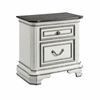 Picket House Furnishings - Caroline 2 Drawer Nightstand With Usb in Antique White - LH700NS
