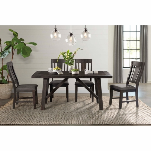 Picket House Furnishings - Carter 5Pc Dining Set in Dark Gray - DCS1005PC