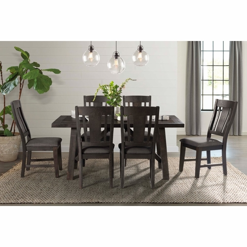 Picket House Furnishings - Carter 7Pc Dining Set in Dark Gray - DCS1007PC