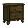 Picket House Furnishings - Channing 2 Drawer Nightstand in Dark Walnut - CH600NS