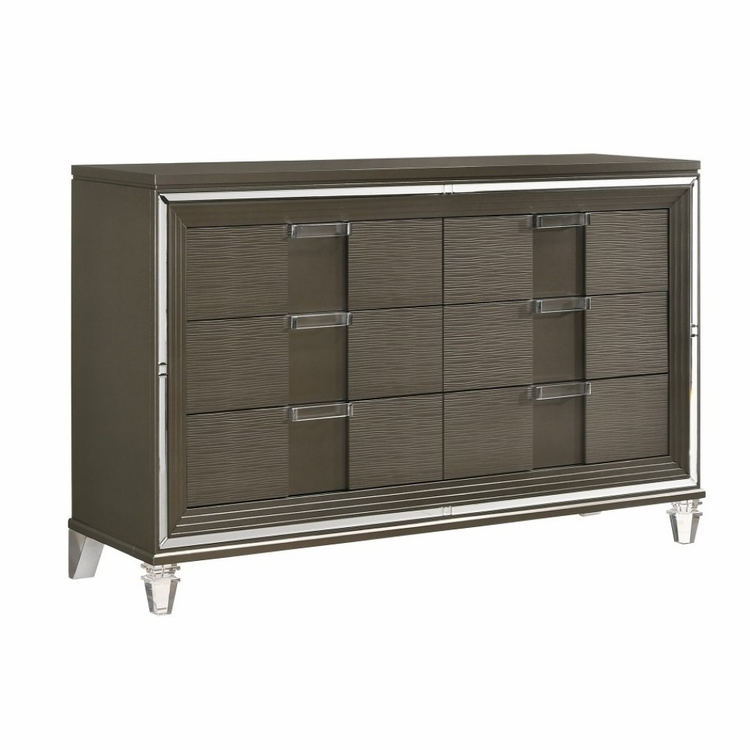 Picket House Furnishings - Charlotte 6 Drawer Dresser in Copper - TN600DR