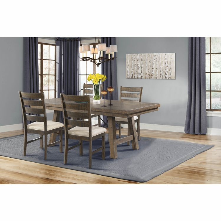 Picket House Furnishings - Dex 5PC Dining Set-Table, 4 Ladder Side Chairs - DJX1505PC
