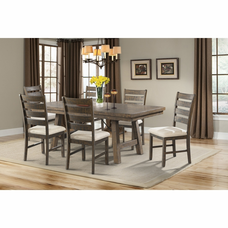 Picket House Furnishings - Dex 7PC Dining Set- Table, 6 Ladder Side Chairs - DJX1507PC