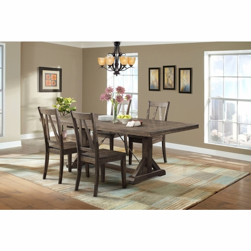 Picket House Furnishings - Flynn Dining Table, 4 Wooden Side Chairs - DFN100S5PC