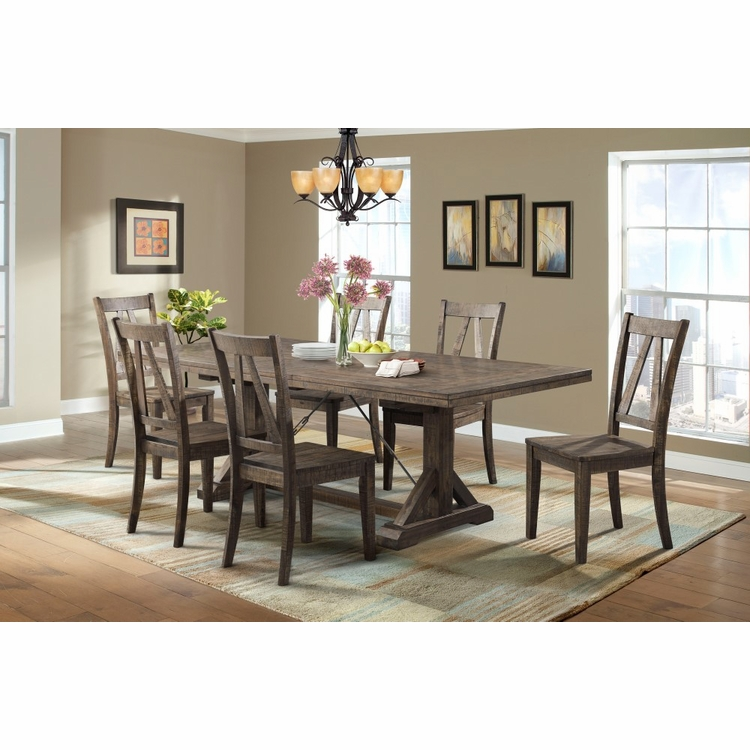 Picket House Furnishings - Flynn Dining Table & 6 Wooden Side Chairs - DFN100S7PC