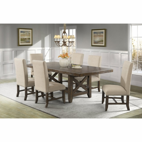 Picket House Furnishings - Francis Table & 6 Fabric Side Chairs - DFK100F7PC