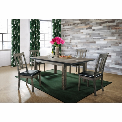 Picket House Furnishings - Grayson Dining  with Padded Seats 5PC Set - DNH100CP5PC
