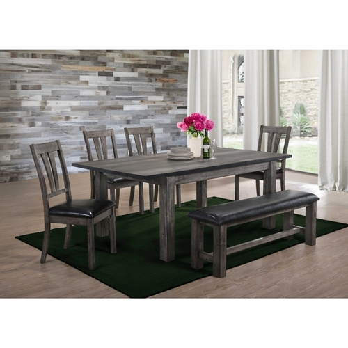 Picket House Furnishings  -  Grayson Dining  with Padded Seats 6PC Set  - DNH100CP6PC
