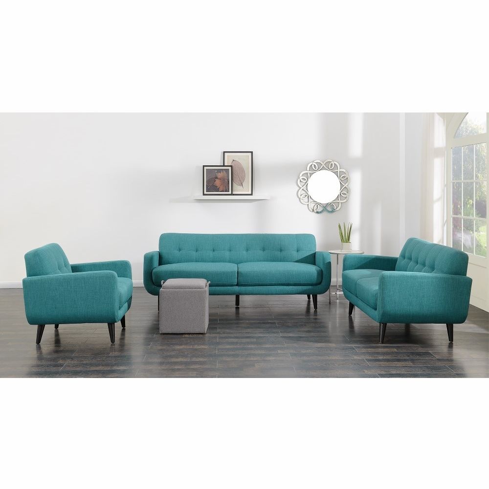 Picket House Furnishings - Hailey 3Pc Sofa Set in Teal - UHD0873PC