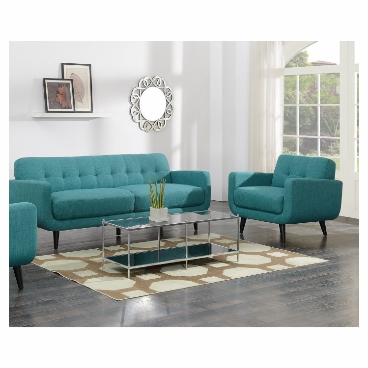 Super Picket House Furnishings Hailey Sofa And Chair Set In Teal Uhd087Sc2Pc Andrewgaddart Wooden Chair Designs For Living Room Andrewgaddartcom
