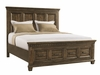 Picket House Furnishings - Johnny 2 Drawer King Storage Bed in Smokey Walnut - MB600KB