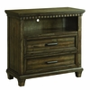 Picket House Furnishings - Johnny 2 Drawer Media Chest With Media Compartment in Smokey Walnut - MB600TV