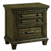 Picket House Furnishings - Johnny 2 Drawer Nightstand With Usb in Smokey Walnut - MB600NS
