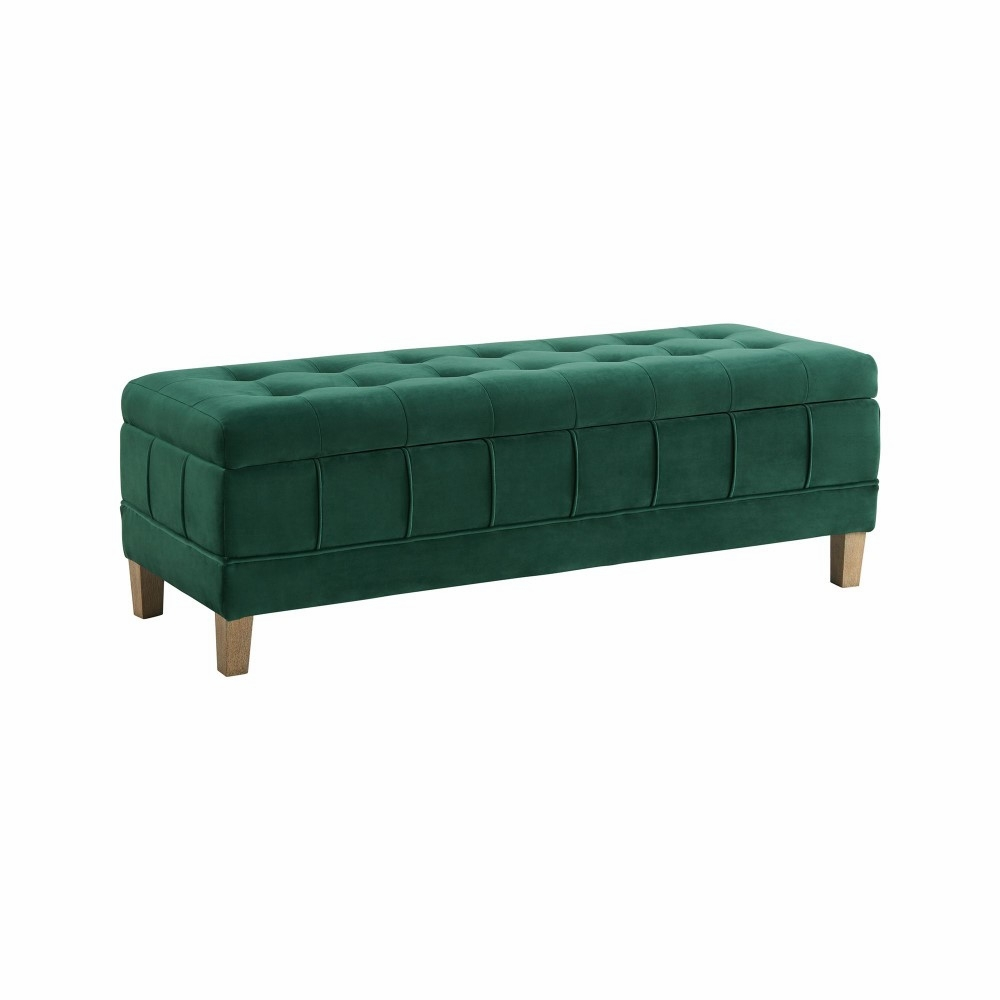Pleasing Picket House Furnishings Jude Tufted Storage Ottoman In Evergreen Ucb1816001Wwe Short Links Chair Design For Home Short Linksinfo