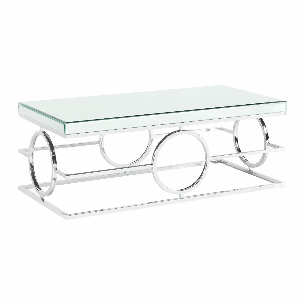 Fabulous Picket House Furnishings Katie Rectangle Mirrored Coffee Table In Chrome Ctpl100Cte Pabps2019 Chair Design Images Pabps2019Com