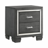 Picket House Furnishings - Kenzie 2 Drawer Nightstand in Gray - TT100NS
