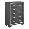 Picket House Furnishings - Kenzie 5 Drawer Chest in Gray - TT100CH