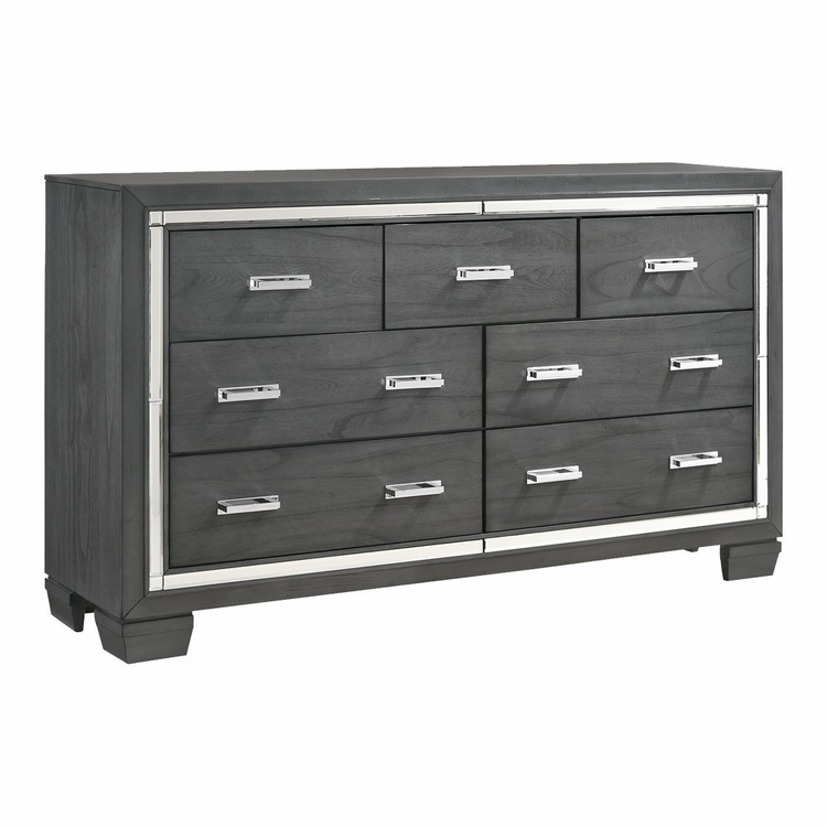 Picket House Furnishings - Kenzie 7 Drawer Dresser in Gray - TT100DR