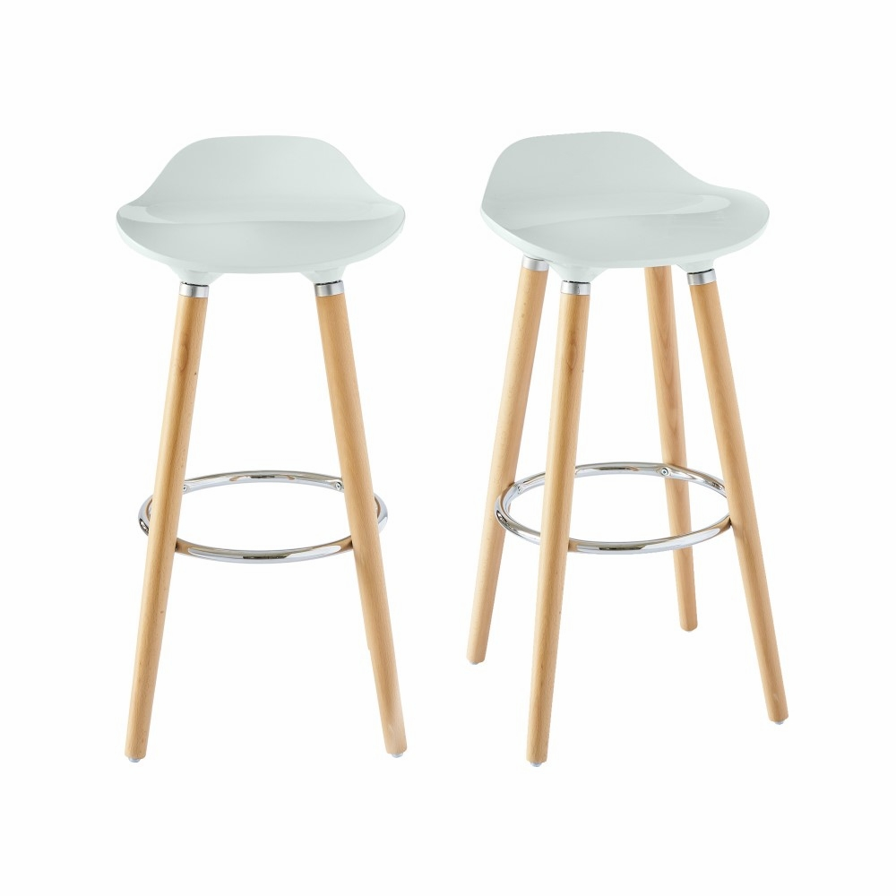 Terrific Picket House Furnishings Leo Low Back Bar Stool Set Of 2 In White Bdl700Bse Andrewgaddart Wooden Chair Designs For Living Room Andrewgaddartcom