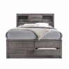 Picket House Furnishings - Madison Queen Storage Bed in Gray - EG170QB