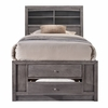 Picket House Furnishings - Madison Twin Storage Bed in Gray - EG170TB