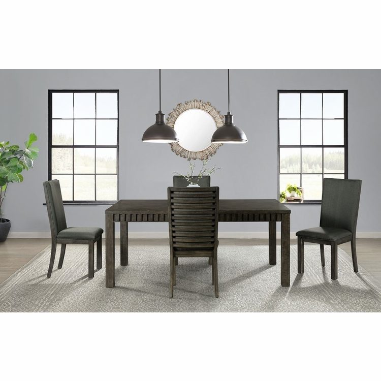 Picket House Furnishings - Montego 5Pc Dining Set Table And Four Chairs in Dark Walnut - DSB1005PC
