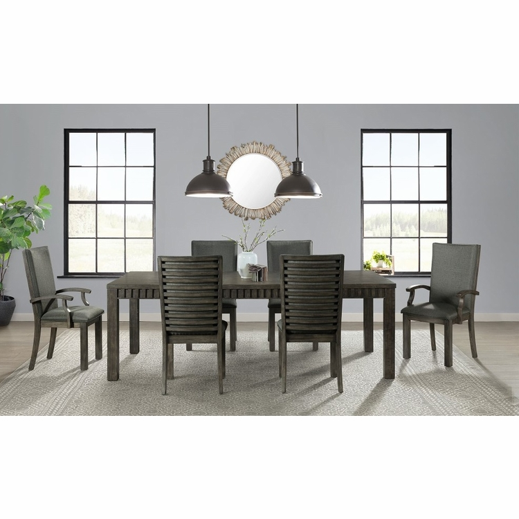 Picket House Furnishings - Montego 7Pc Dining Set in Dark Walnut - DSB100AC7PC
