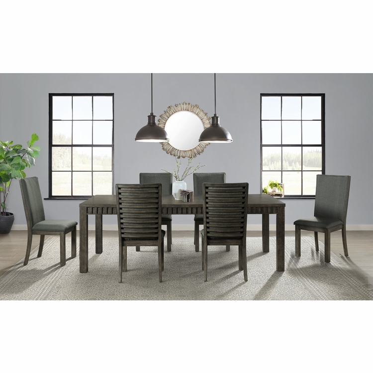 Picket House Furnishings - Montego 7Pc Dining Set Table And 6 Side Chairs in Dark Walnut - DSB100SC7PC