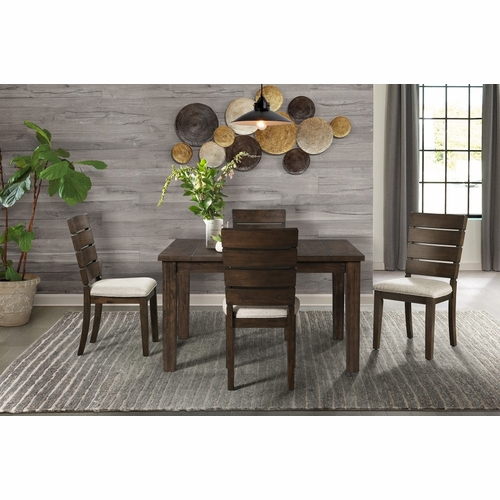 Picket House Furnishings - Murphy 5Pc Dining Set Table And Four Chairs in Walnut - DCT5505PC