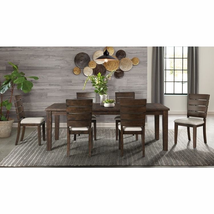 Picket House Furnishings - Murphy 7Pc Dining Set Table And Six Chairs in Walnut - DCT5507PC