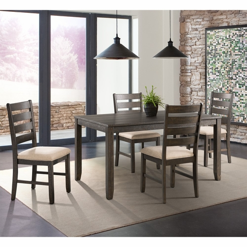 Picket House Furnishings - Powell 5Pc Dining Set Table And Four Chairs in Dark Walnut - DBR1005DS