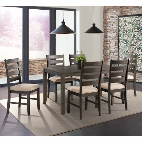 Picket House Furnishings - Powell 7Pc Dining Set Table And Six Chairs in Dark Walnut - DBR1007DS