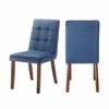 Picket House Furnishings - Rosie Tufted Side Chair Set of 2 in Blue - DRB500TSCNB