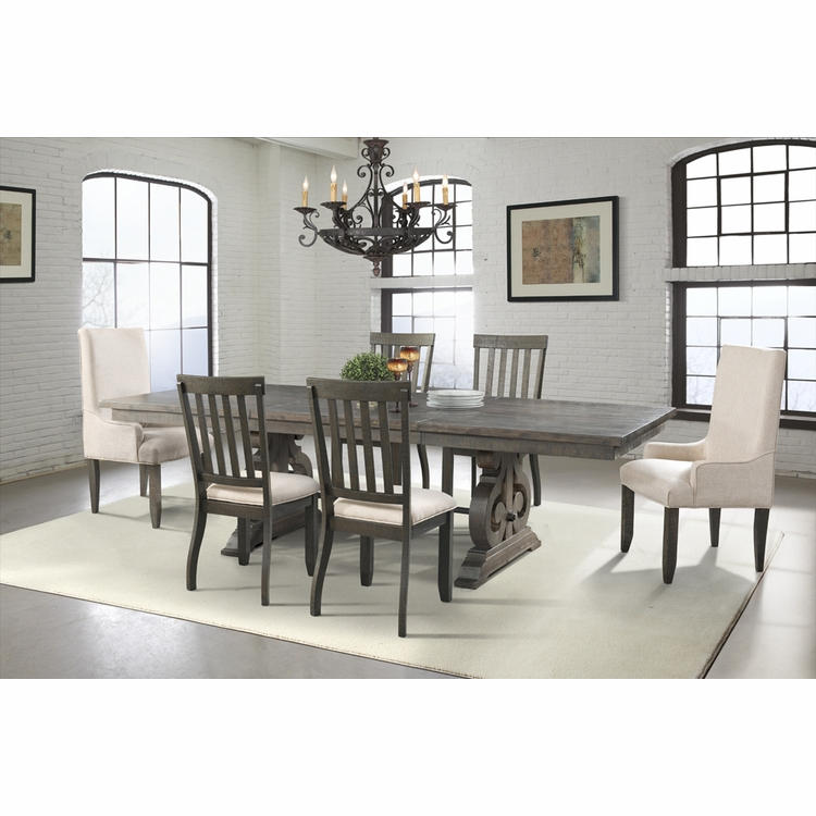 Picket House Furnishings - Stanford Dining Table, 4 Side Chairs, 2 Parson Chairs - DST100SP6PC