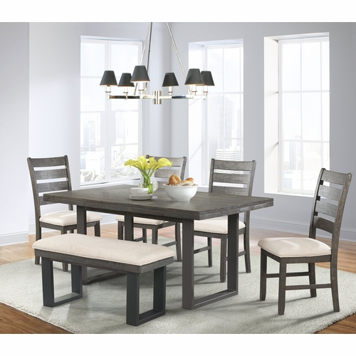 Picket House Furnishings - Sullivan Dining Table, 4 Side Chairs & Bench - DSW100SB6PC