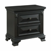 Picket House Furnishings - Trent 2 Drawer Nightstand in Antique Black - CY650NS