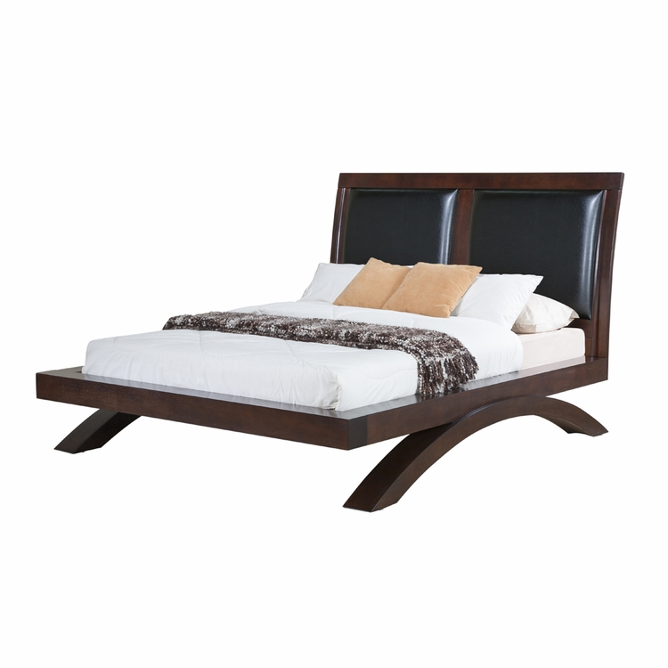 Picket House Furnishings - Zoe Queen Bed with PU Headboard - RV222QB