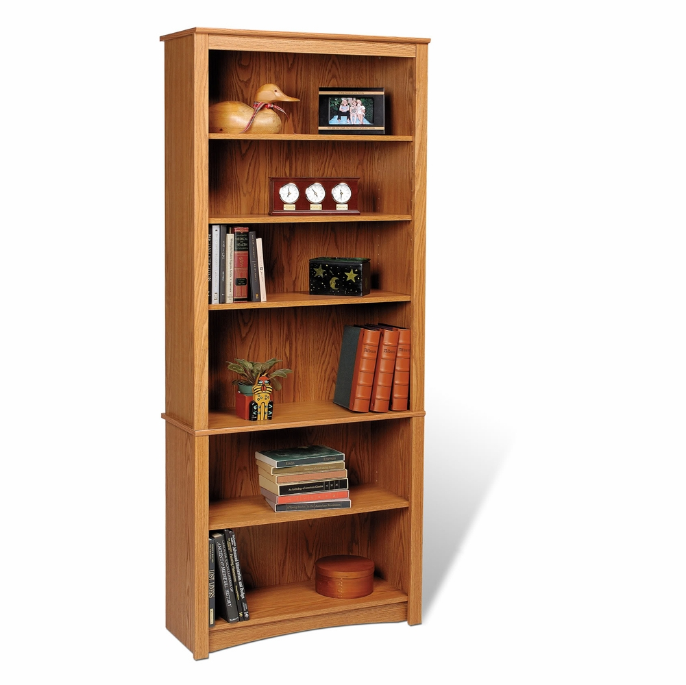 Oak Prepac ODL-3229 2-Shelf Bookcase