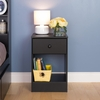 Prepac - Astrid Tall 1 Drawer Night Stand In Black - BDNH-0401-1