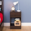 Prepac - Astrid Tall 1 Drawer Night Stand In Espresso - EDNH-0401-1