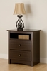 Prepac - Fremont 2 Drawer Tall Night Stand with Open Shelf - EDC-2428