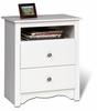 Prepac - Monterey White 2 - Drawer Tall Night Stand with Open Cubbie - WDC-2428